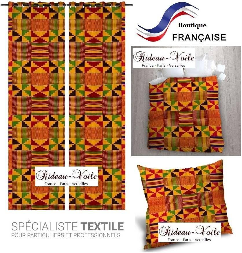 Rideaux Avec Motif Africain Tissu Motif Imprime Afrique Africain