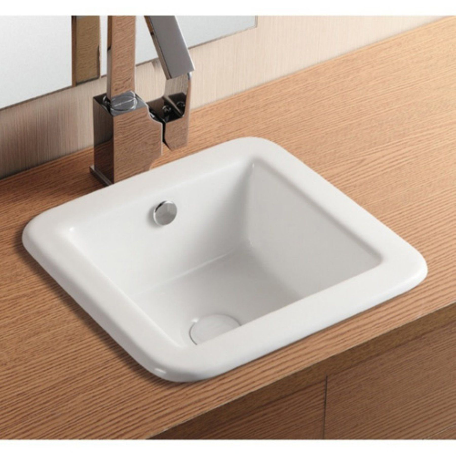 Caracalla by Nameeks CA4980 Bathroom Sink - White - CARACALLA CA4980-NO HOLE