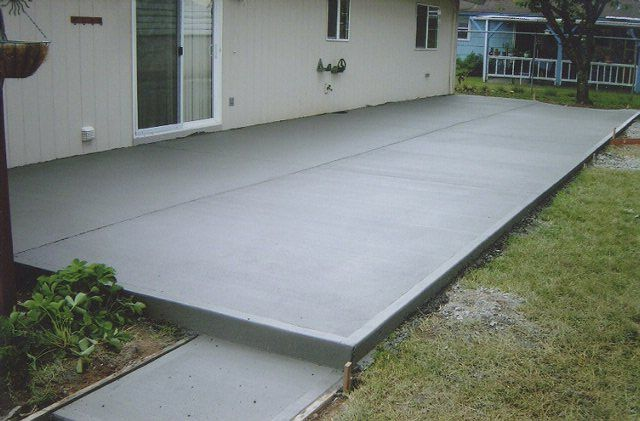 A Simple Concrete Patio Is 5 To 6 A Sqft I Could Diy And Stain It Myself Total Cost About 3000 Poured Concrete Patio Concrete Patio Designs Concrete Patio