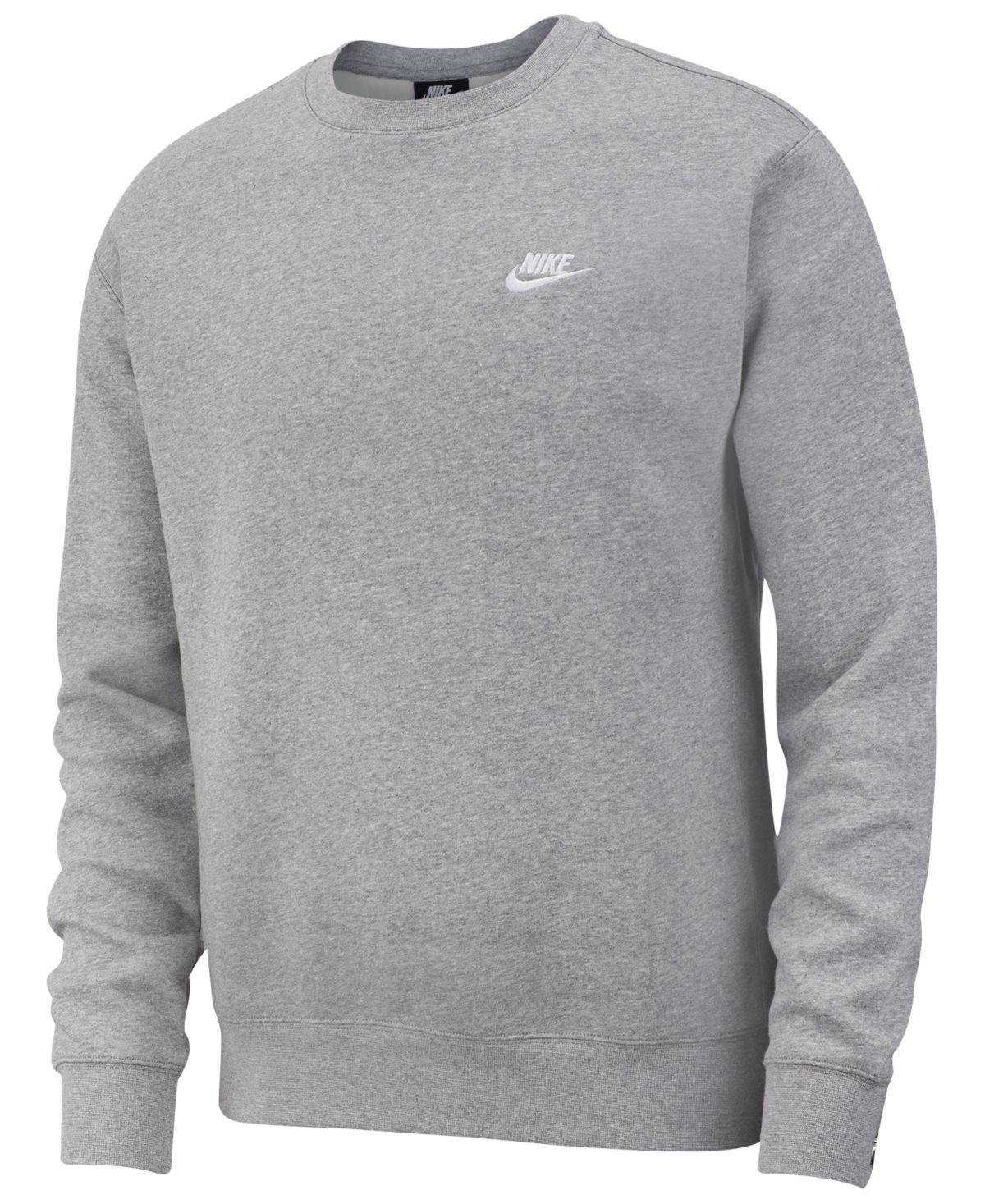 Nike Men S Club Fleece Crew Sweatshirt Reviews All Activewear Men Macy S In 2021 Nike Men Grey Sweatshirt Mens Nike Sweatshirts [ 1467 x 1200 Pixel ]
