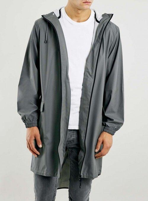 Topman Men's Rains Grey Parka Jacket | Coat, Jacket and Clothing ...