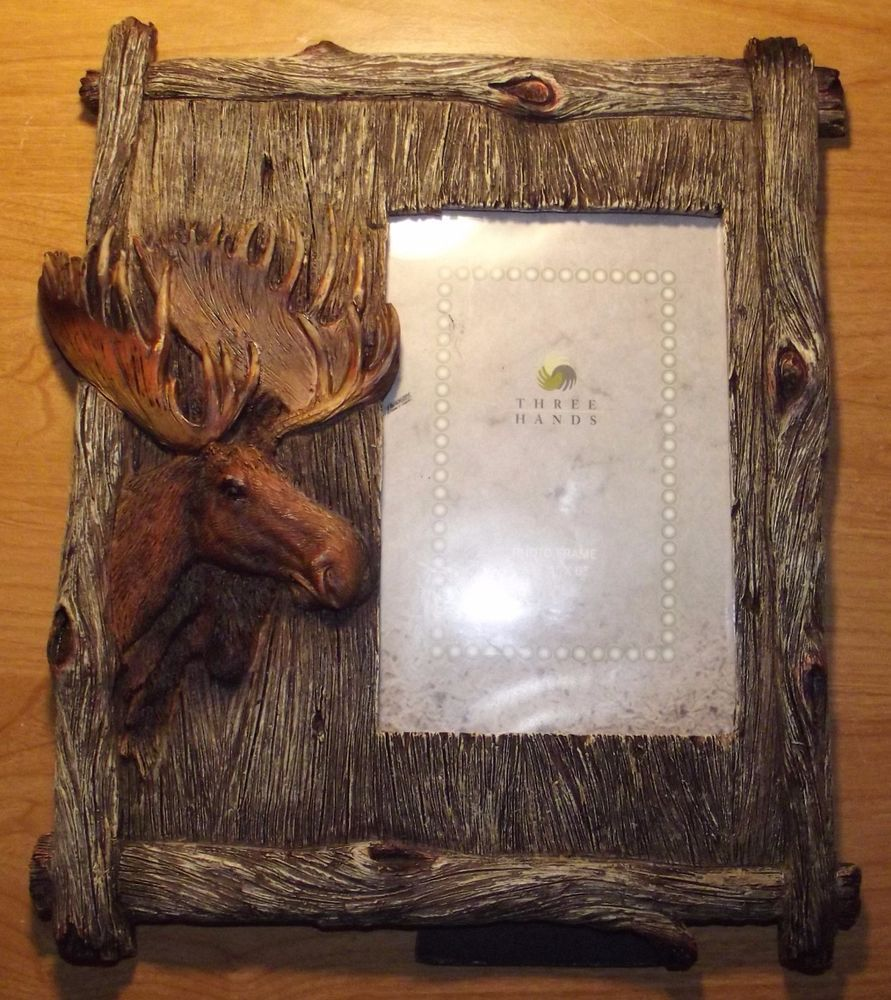 Moose picture frame threehands country moose picture frame moose picture frame threehands country jeuxipadfo Choice Image