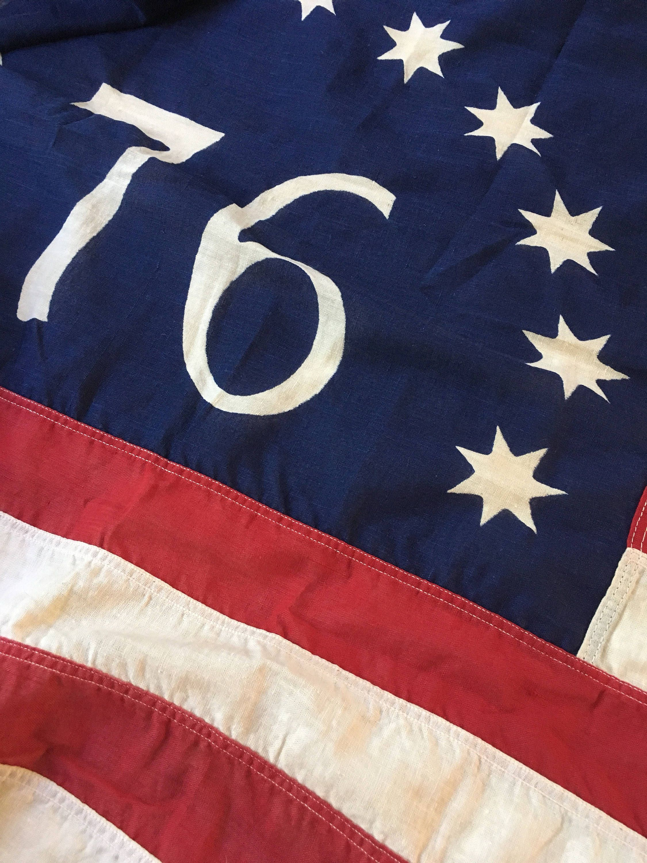 Rare Faded Vintage 76 Bicentennial Valley Forge American Flag Flag Company Vintage American Flag