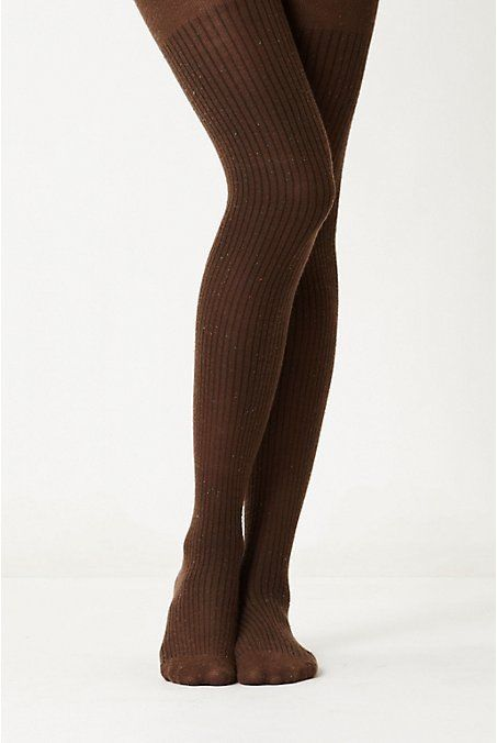 Anthropologie Speckled Sweater Tights O/S, Dark Brown Marled Ribbed By Eloise  #Eloise #Tights
