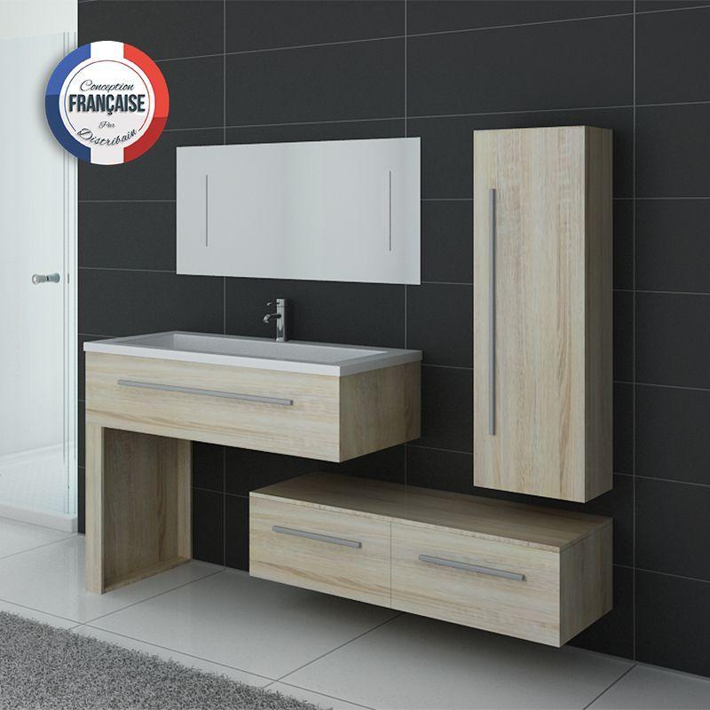 Ensemble de meubles de salle de bain scandinave simple vasque avec - Meuble Avec Miroir Pour Salle De Bain