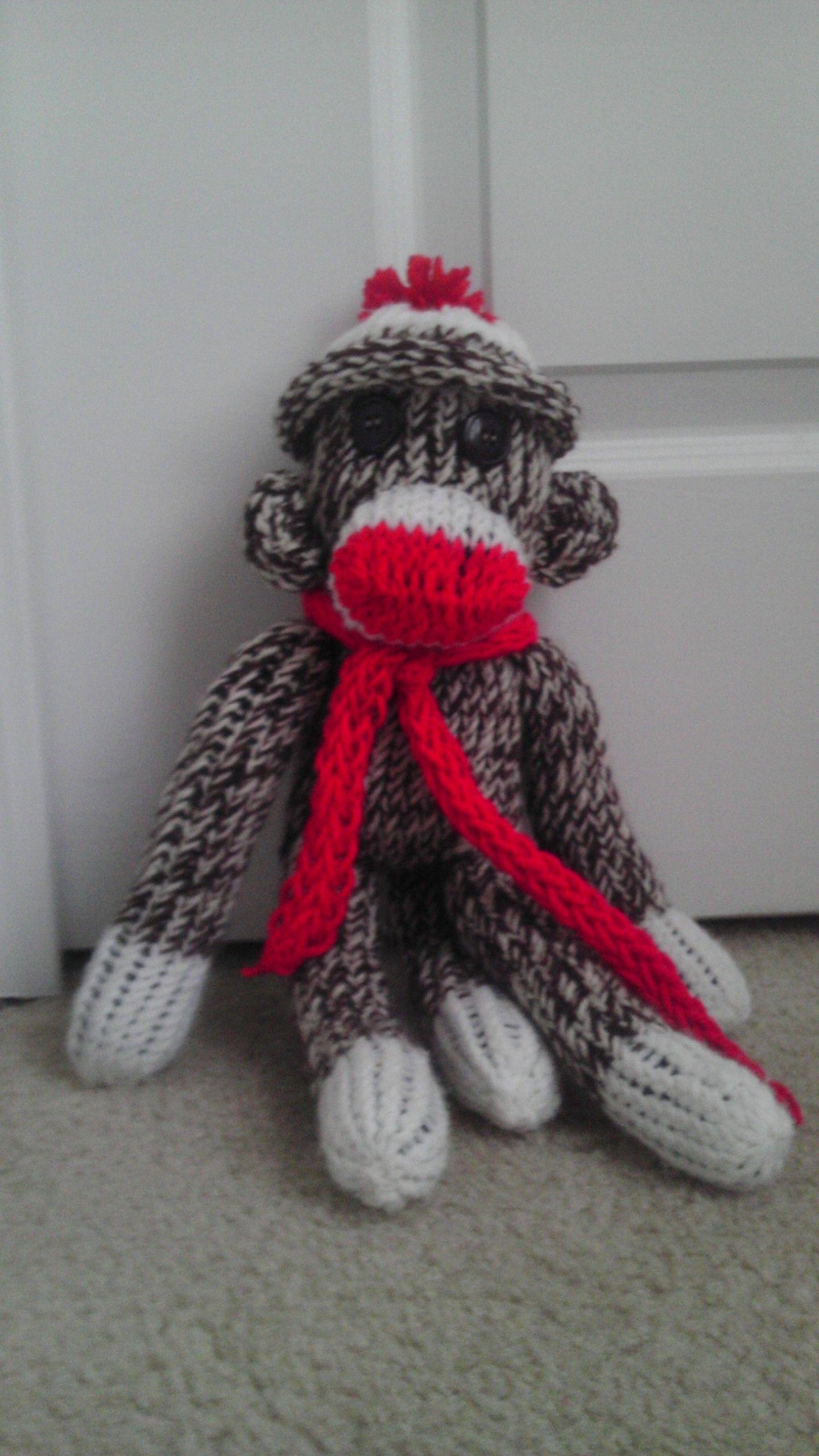 "Eliji the ""Sock"" Monkey | Free pattern, Monkey and Loom knitting"
