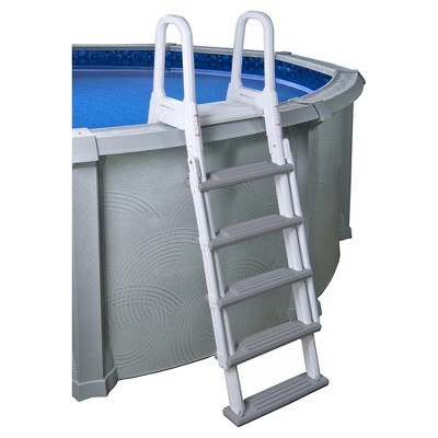Heavy Duty A Frame Ladder For Above Ground Pools White