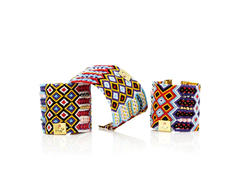 Red multi depyc woven friendship bracelets fun products