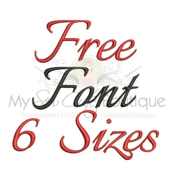 Free embroidery fonts pinterest