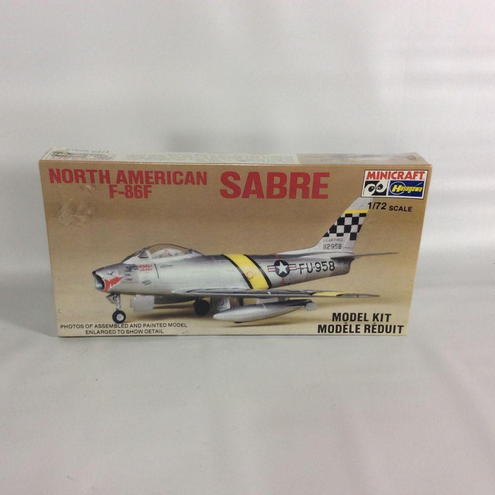 North American F 86 F Sabre Hasegawa 1 72 Scale Model Factory Sealed Vintage Hasegawa North American American Scale Models