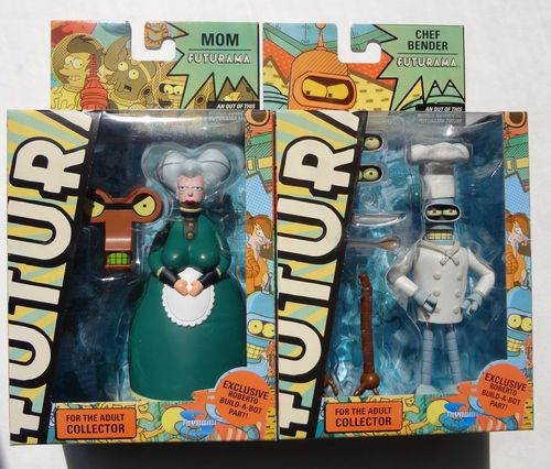 Futurama Mom & Chef Bender Build- a- bot Figure Set Toynami. Available at: http://stores.ebay.ca/Monster-Smash-Toy-Shop