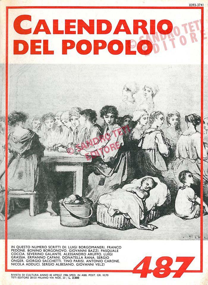 Il Calendario del Popolo n° 487, 1986