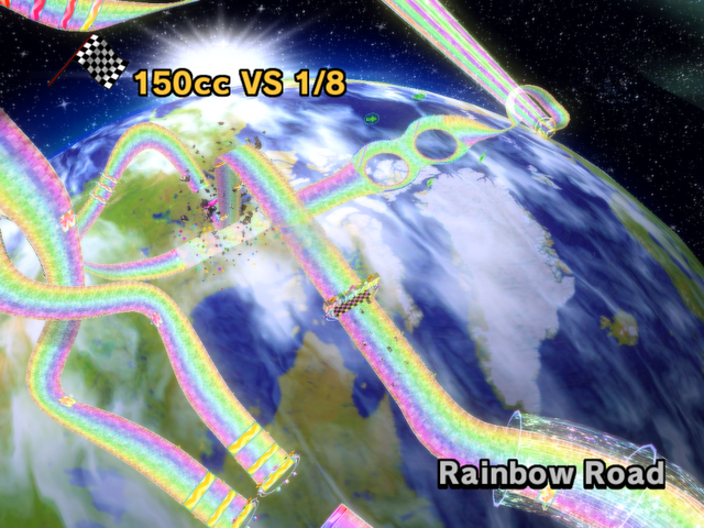 Rainbow Road From Mario Kart Wii Rainbow Road Mario Kart Wii Super Mario Bros