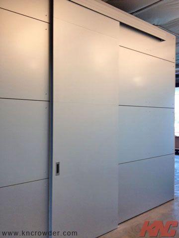 Heavy Duty Top Mount Hangers Used On The Sliding Door For The Breakroom Offices In The Sklz Building In Carlsbad Barn Door Track Break Room Sliding Doors