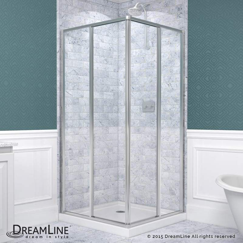 "Dreamline DL-6710-01 Cornerview 74-3/4"" High x 36"" Wide x 36"" Deep Sliding Frame Chrome Showers Shower Enclosures Corner"