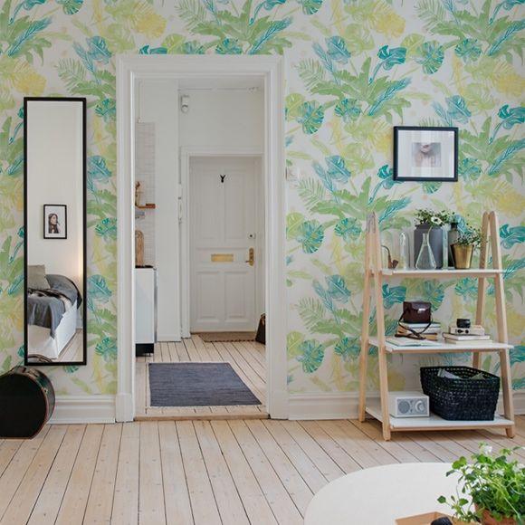 Papier peint Jungle vert clair – Collection Lara Costafreda de Coordonné