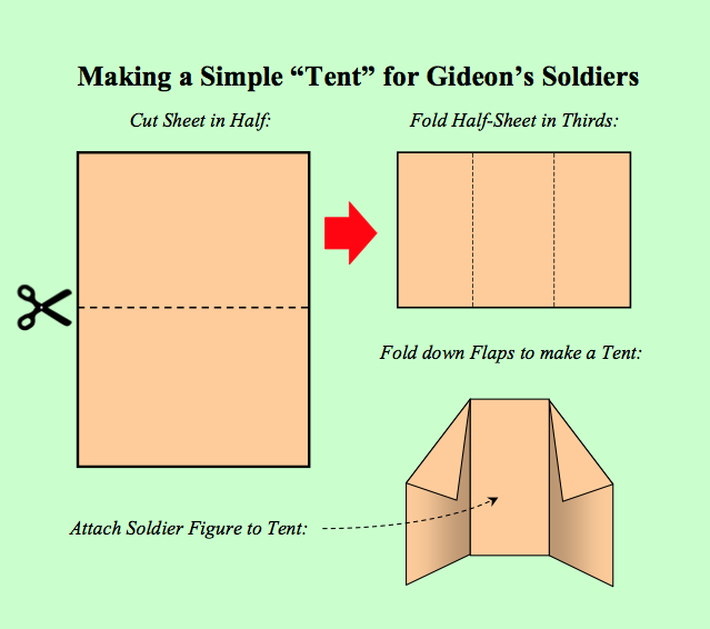make paper tent sunday schoolhouse series activity red unit b2