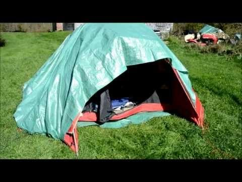 641e727fa6e How to Winterize a summer tent to keep warmer in cold weather - YouTube