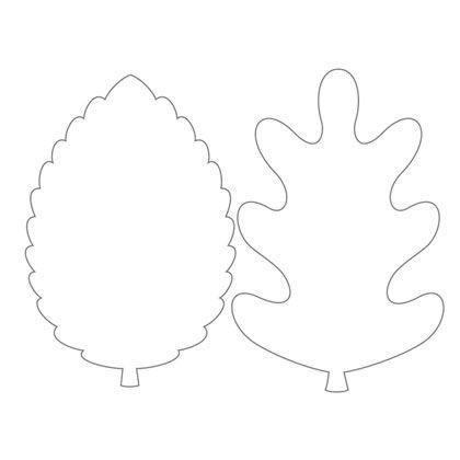 feuilles d 39 automne photocopier sur du papier couleur pais pour une guirlande sur une carte. Black Bedroom Furniture Sets. Home Design Ideas