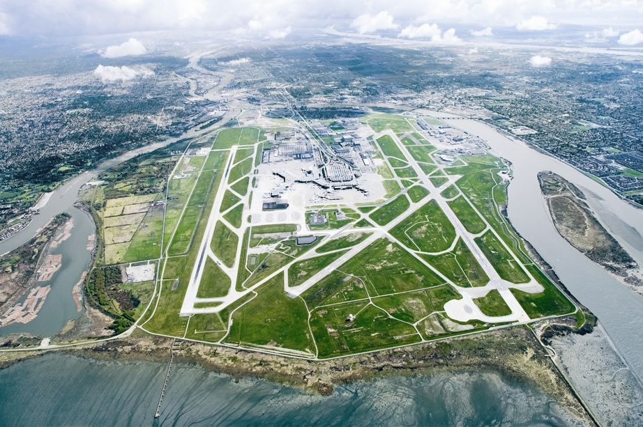 Yvr Vancouver Vancouver International Airport Airport Aerial View