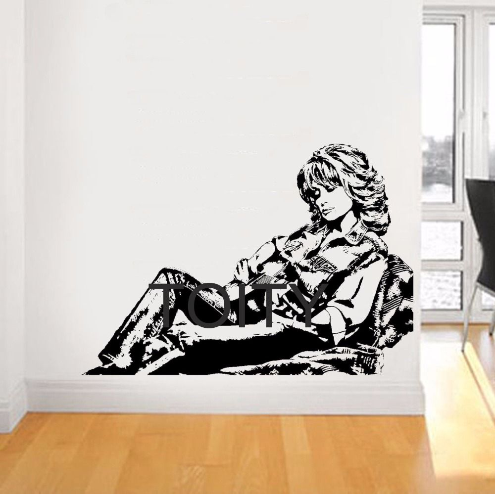 Dolly parton wall sticker country music singer vinyl decals dolly parton wall sticker country music singer vinyl decals american celebrity artist art decor home room amipublicfo Image collections