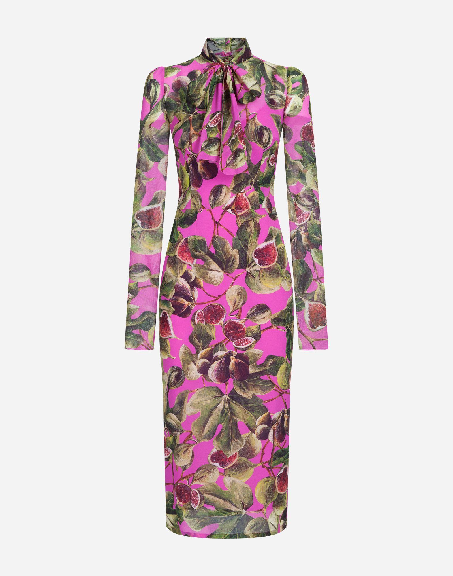 6a7757e0 Dolce & Gabbana - Fig-print fuchsia silk dress ($2,375) | Dresses ...