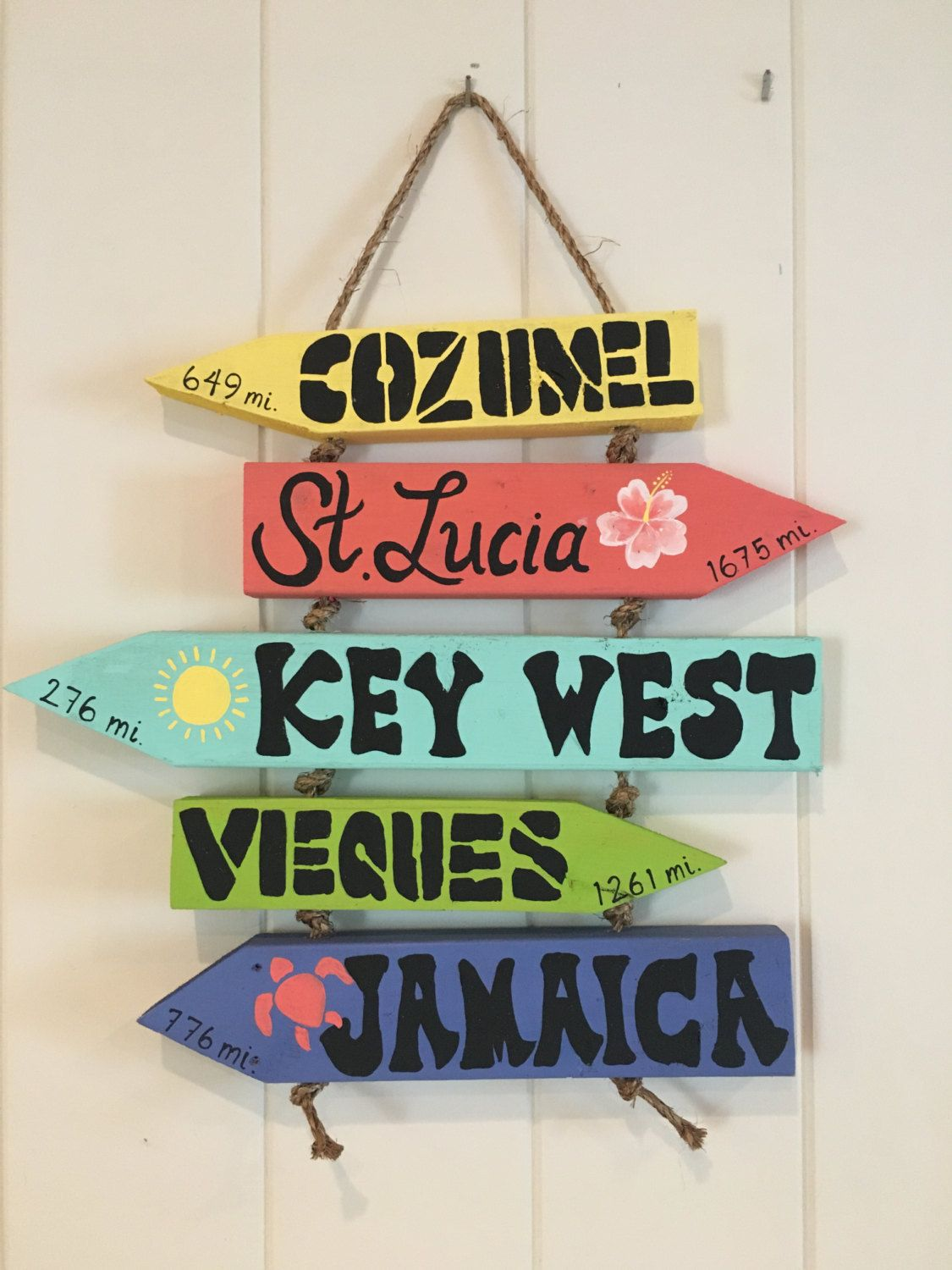 From Cool Beach Signs on Etsy: $74.99 Directional Sign with ...