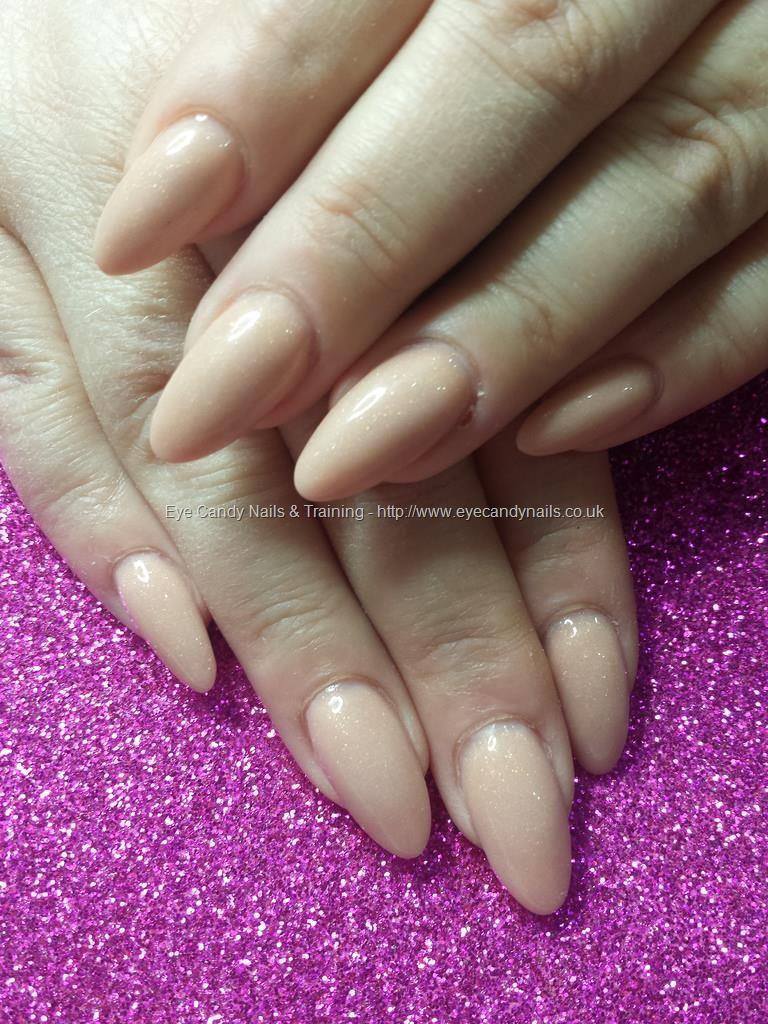 Nude acrylic nails almond shape   stiletto nails   Pinterest   Nail ...