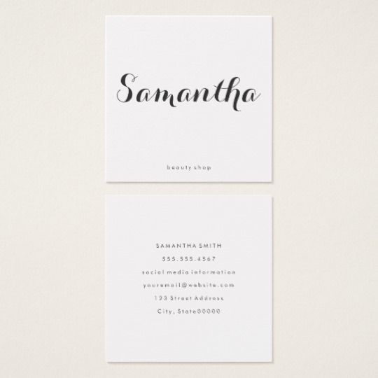 Fancy font minimalist square business card business cards fancy font minimalist square business card colourmoves