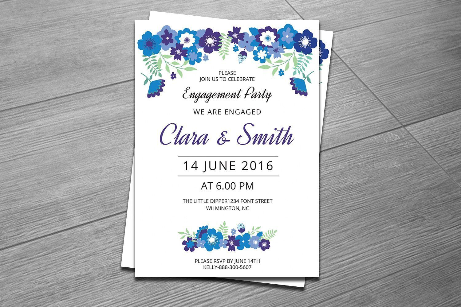 Engagement Party Invitation Template by retrographix on