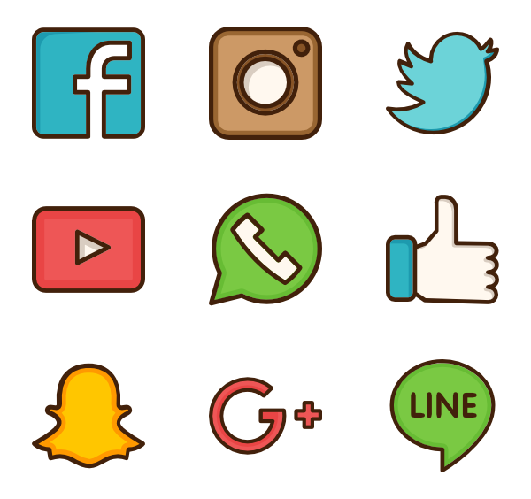 Flaticon The Largest Database Of Free Vector Icons Social Network Icons Social Media Icons Vector Social Media Drawings