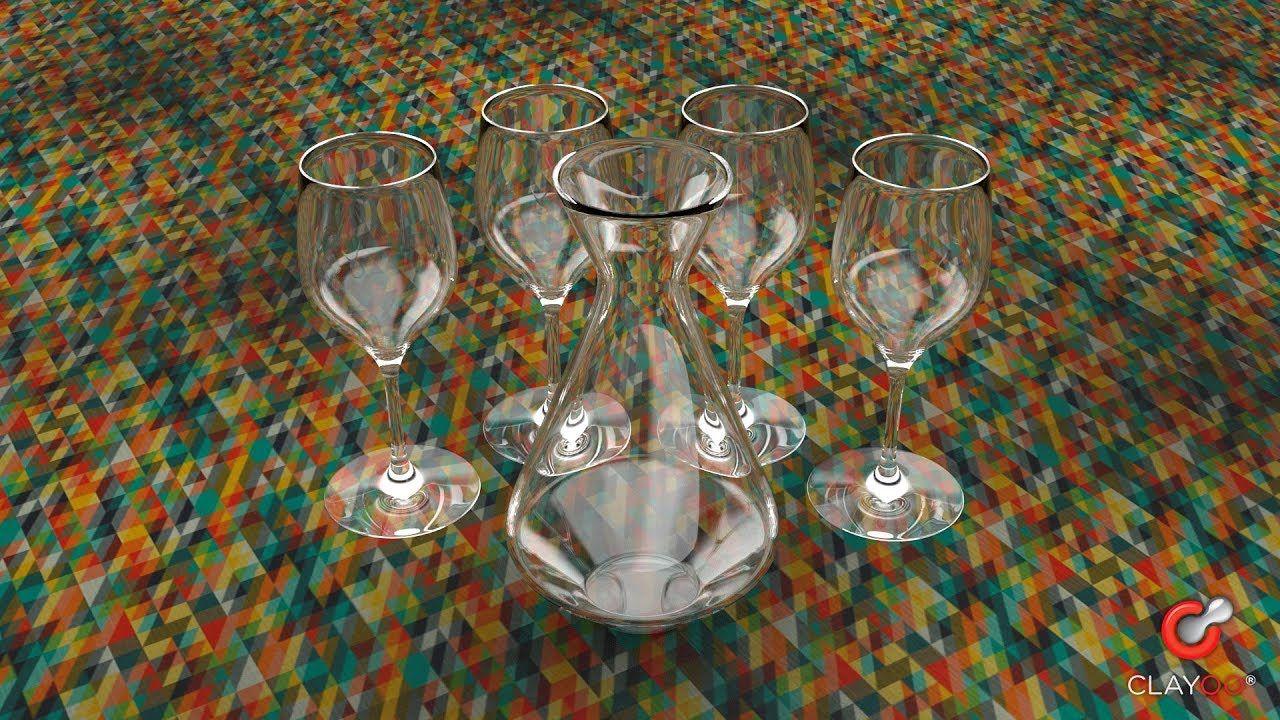 Clayoo Wine Glasses & Pourer Speed