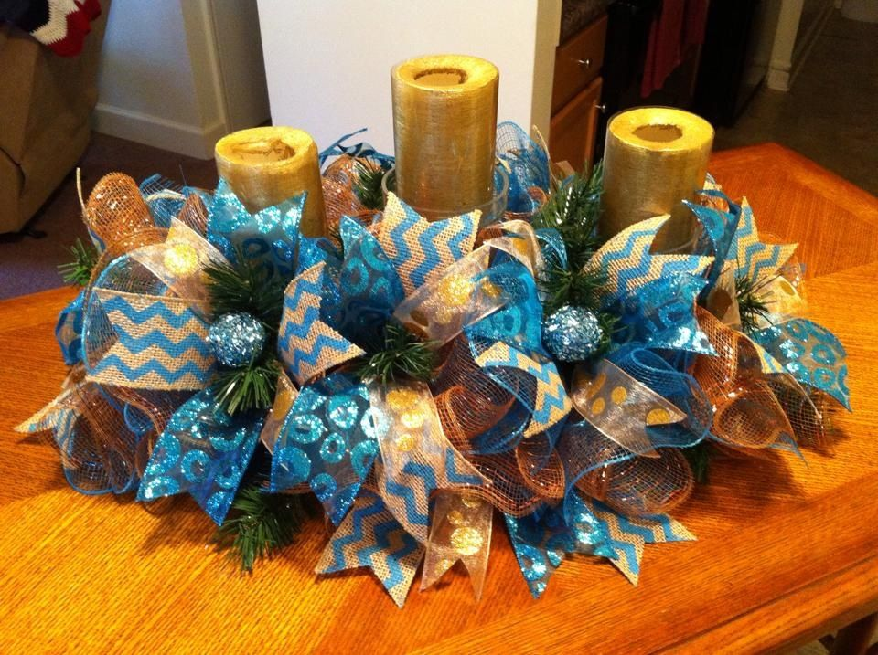 """Firecracker Wreath made from the new straight """"Ribbon ..."""