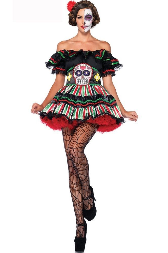 d guisement costume mexicaine mexicain f tes des morts halloween carnaval 39284 inspirations. Black Bedroom Furniture Sets. Home Design Ideas
