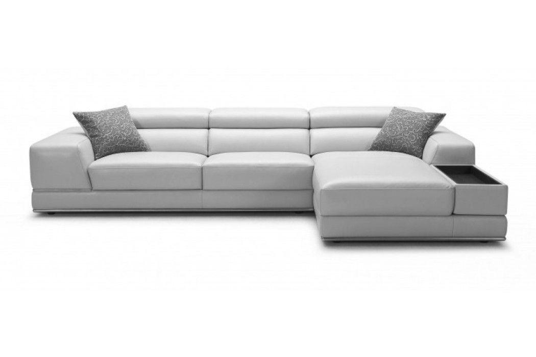 bergamo sectional leather modern sofa gray eco uk - grey&white ...