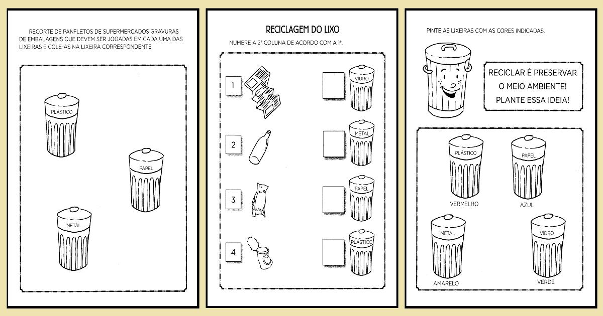 Resultado De Imagem Para Turma Da Monica Lixo Atividades