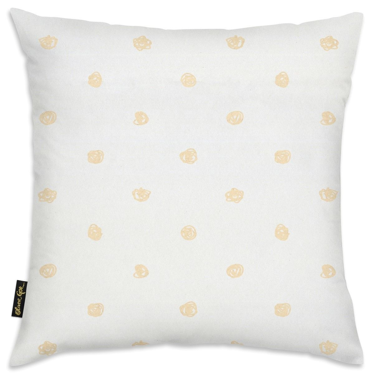 Easel Beige Dot Pattern Pillow, Oliver Gal