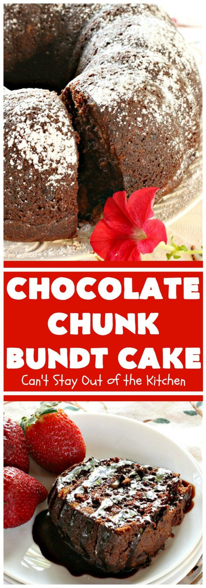 Chocolate Butter Pecan Pound Cake Chocolate Chunk Bundt Cake | Can't Stay Out of the Kitchen | this spectacular starts with a & mix. It uses only 7 ingredients so it's incredibly quick & easy. Perfect for like or It's even great for especially if you like