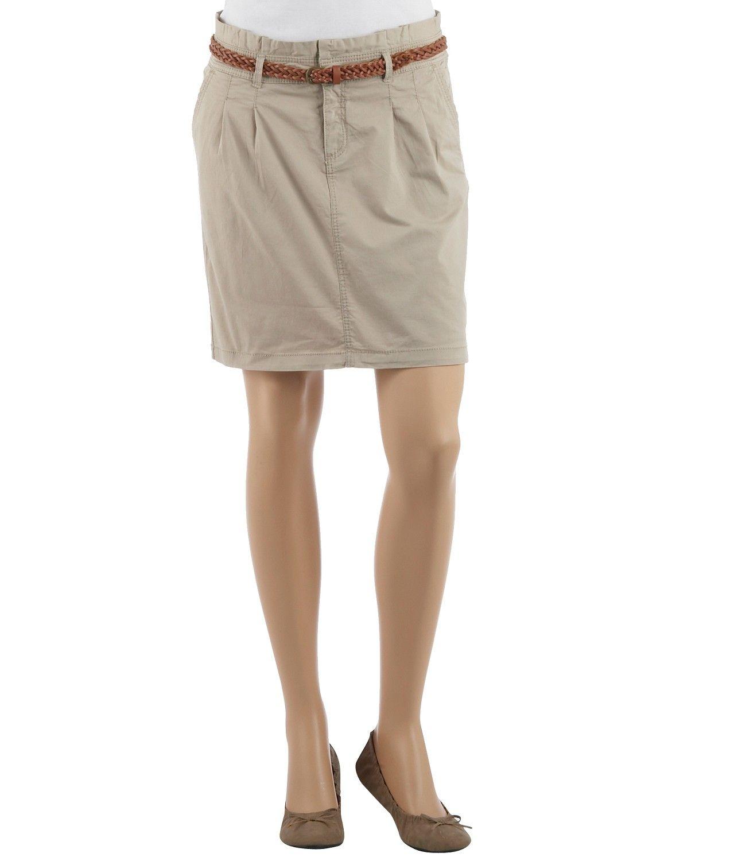 Jupe chino femme en coton - Jupes Camaieu - Pret a porter féminin, mode et tendance