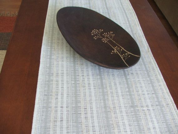 Table runner cotton rustic farmhouse table by DaniellesCorner