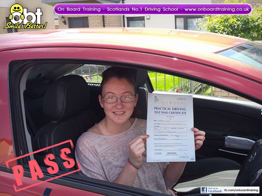 OBT Driving Instructor Norman Allan helped Kim Dunn from Larkhall pass her driving test in Lanark on the 11th of June 2014. Like us on Facebook and get special offers, discounts and news on what we are up to here at On Board Training - https://www.facebook.com/onboardtrainingscotland !