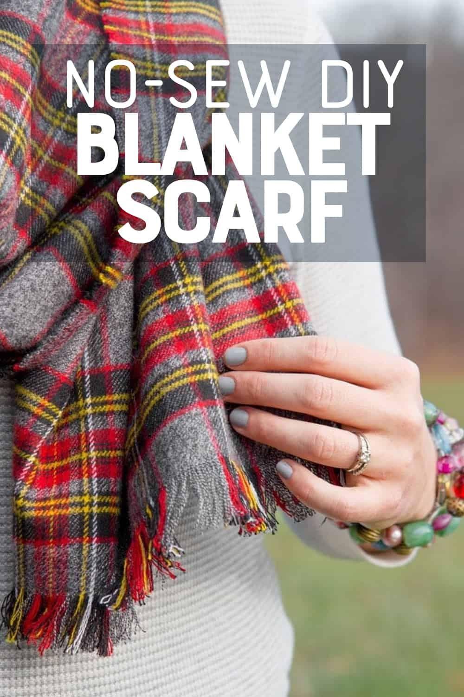 Diy no sew flannel blanket scarf in 2020 no sew blankets