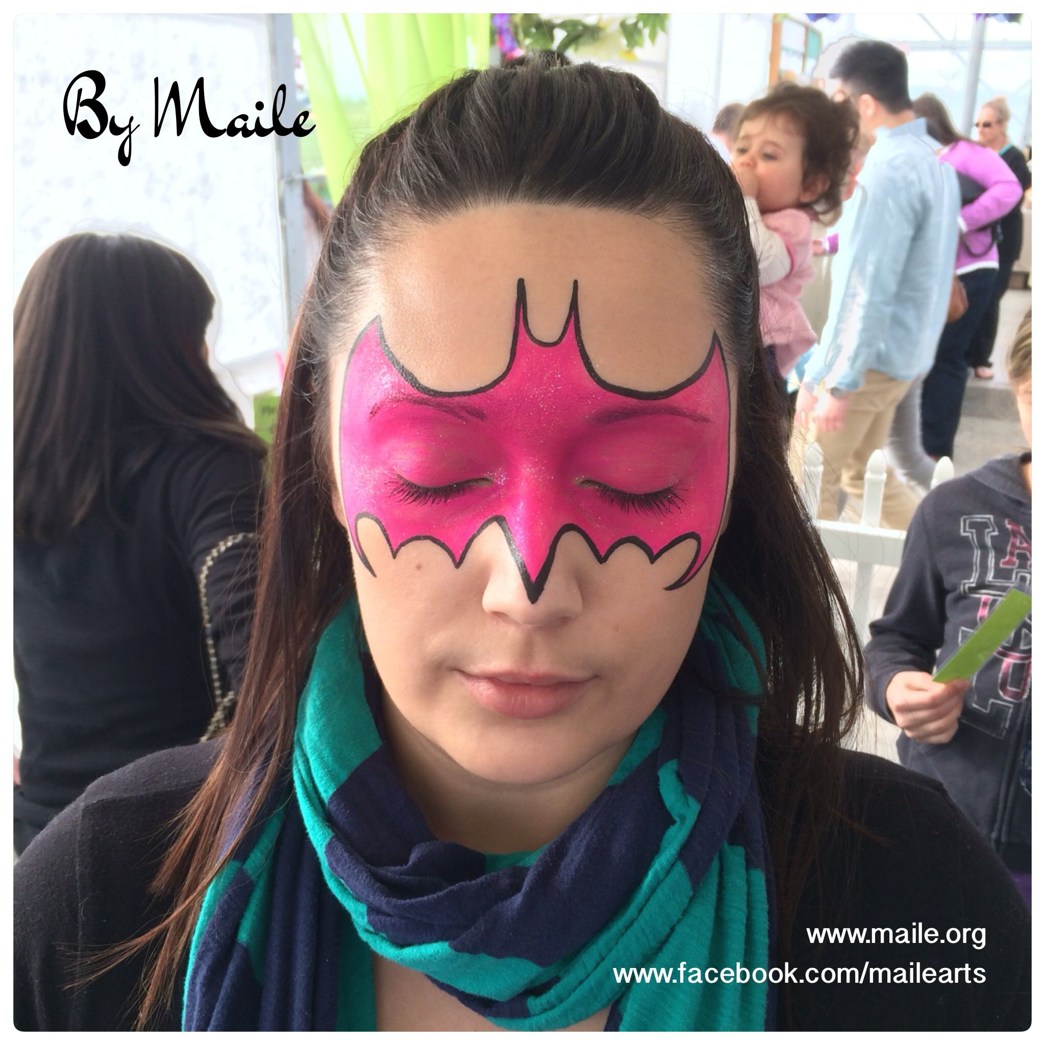 Bat Mask Face Paint By Maile Www Org