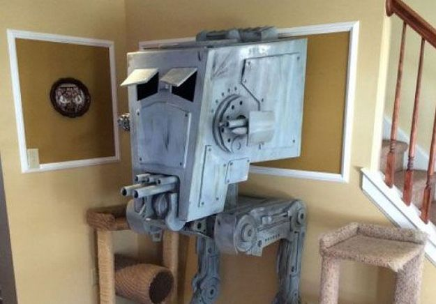 Guy Builds Iconic At St Star Wars Cat House Cat House Diy Cat