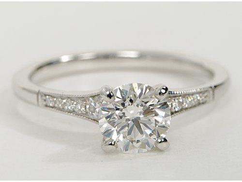 classic petite milgrain diamond engagement ring totally perfect super cute - Cute Wedding Rings