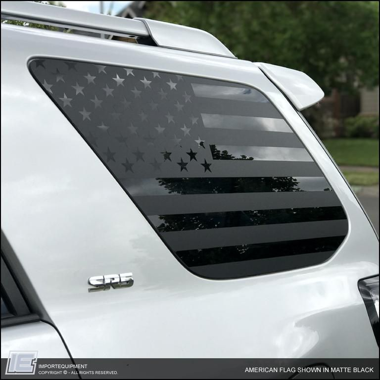 MIRROR American Flag Sticker American Flag Car Stickers