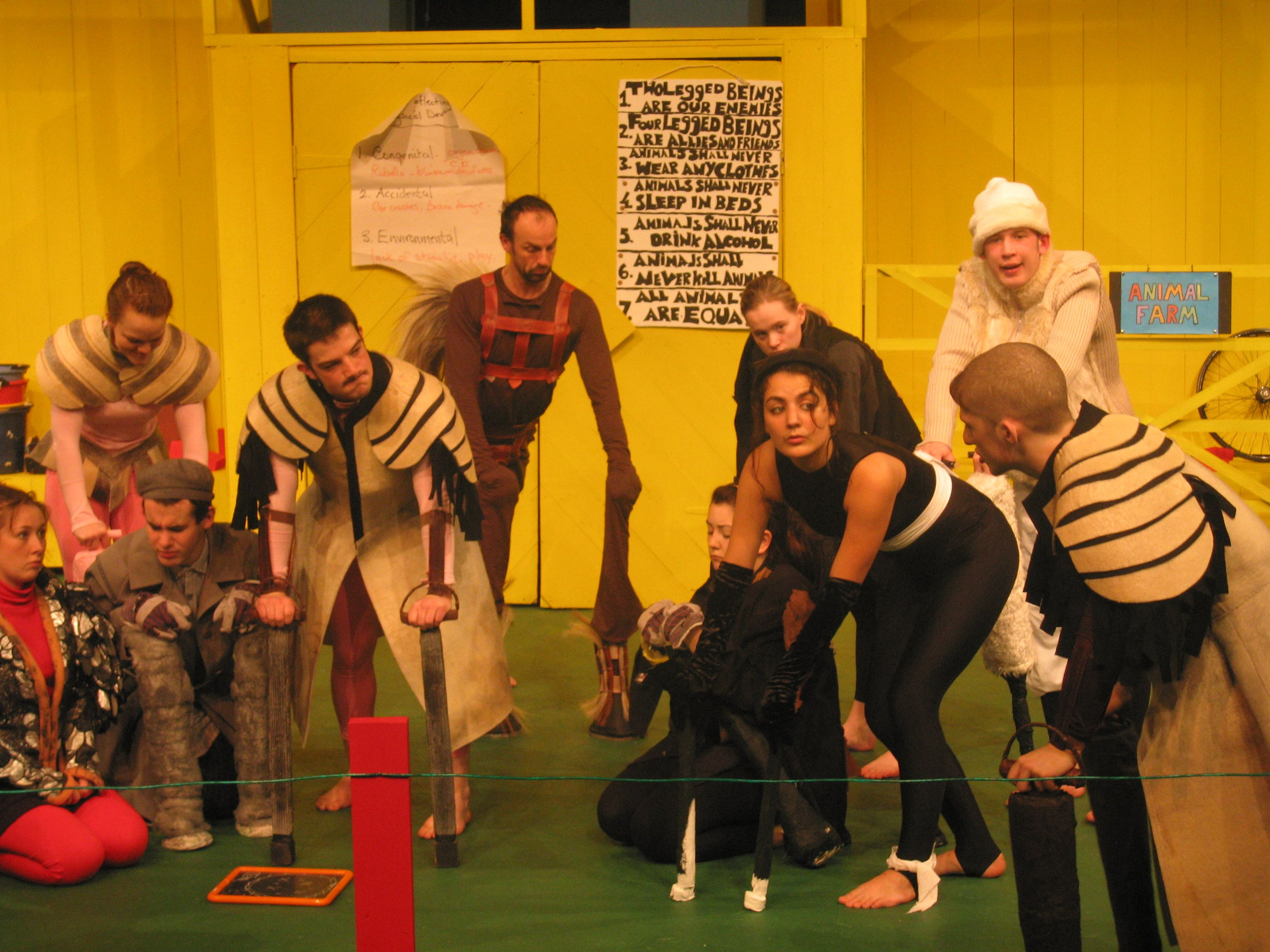 'Animal Farm' performed by students at Glasgow Clyde College.