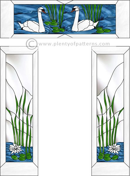 Stained Glass Pattern 2176