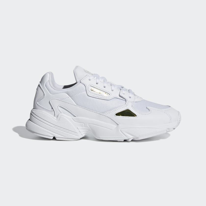 Falcon Shoes White Womens | Adidas running shoes, Sneakers