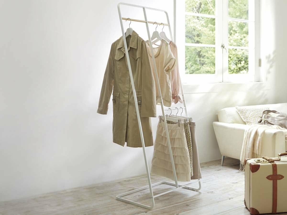 Yamazaki Garderobenständer zum Anlehnen Kleiderständer Japan Design weiß
